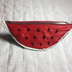 Vintage watermelon makeup bag clutch